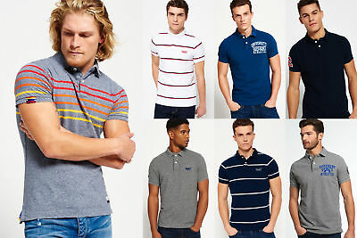 New Mens Superdry Polo Shirts Selection - Various Styles 1402