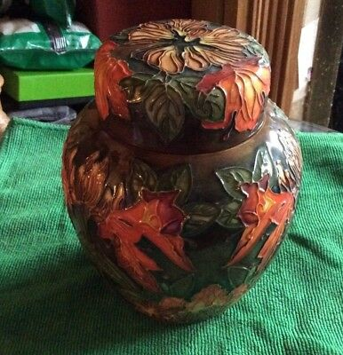 Moorcroft Ginger Jar. Flame of the Forest 6""