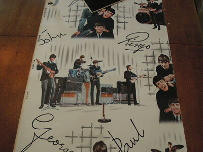 Beatles Original Roll of 60's Wallpaper