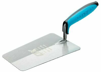 "OX PRO Bucket Trowel Carbon Steel 7"" / 180mm with Duragrip Handle - OX-P013718"