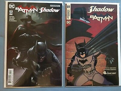 Comic Mint EXCLUSIVE- THE SHADOW BATMAN #1 VARIANT & Batman/The Shadow #5 Lot