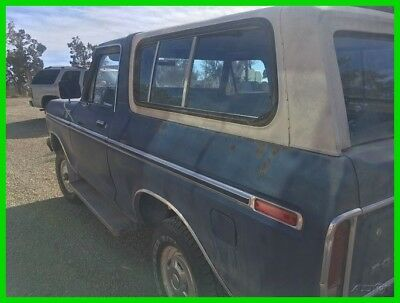 1979 Ford Bronco XLT, Original Numbers Matching 1979 Ford Bronco XLT, 400ci V8, 3-Speed Automatic Transmission, 4WD SUV