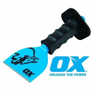"""OX Bolster Chisel Rubber Guard for Brick Masonry Various Sizes 2 1/4"""" 