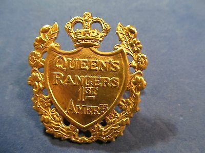 WW2 Canadian The Queen's York Rangers (1st American Regiment) Cap Badge