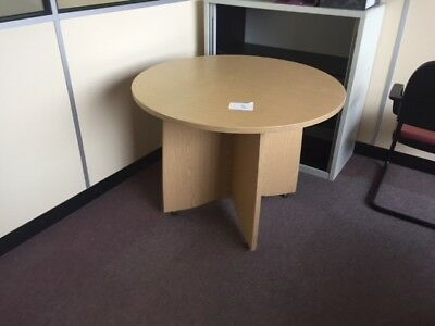 Office  Round Meeting Table in Beech ( clearance sale)