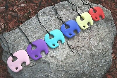 Nursing Necklace Chewable Silicone Elephant Teether