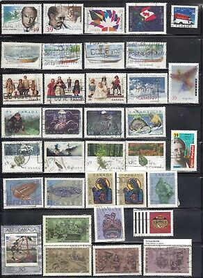 Canada 1989-1990 66 Off Paper Commemorative Used Stamps