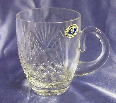 Tutbury English Full Lead Cut Crystal Pint Tankard Glass
