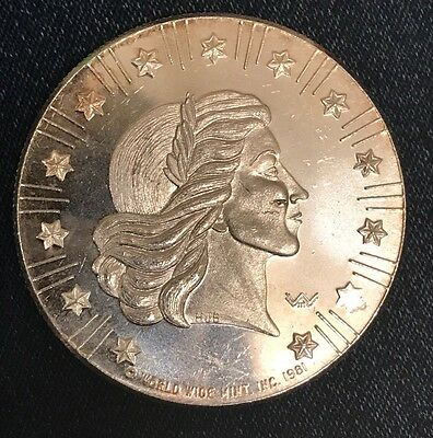 1981 World Wide Mint Silver Eagle - 1 Ounce 999 Fine Silver Round