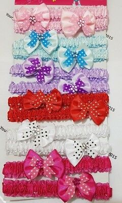 Newborn Baby Girls Bow Flower Headband Infant Toddler Hair Band Accessories