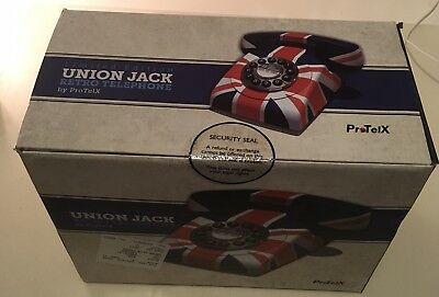 Protelx Classic Retro Push Button Corded Telephone - Union Jack