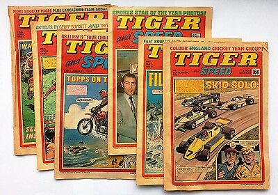 Tiger and Speed Comics - Collection of 6 comics from 1981