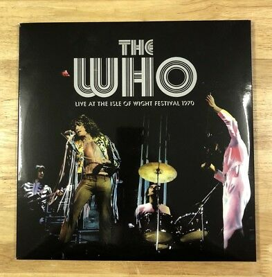 THE WHO Live At The Isle Of Wight VINYL LP Earmark 42043 NM Tri-Gatefold rock