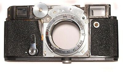 Vintage Kiev/contax Camera Rangefinder Front Body Panel With Parts Working