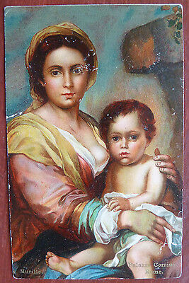 Old Postcard- Murillo, Palazzo Corsini, Rome-Ernest Nister- Worn/Poor Condition