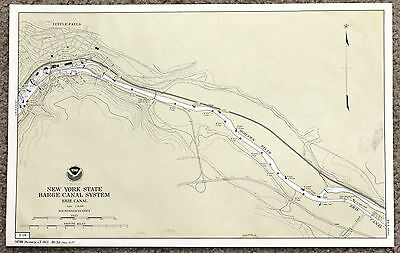 New York Erie Canal Map Little Falls Mohawk River Original Railroads Original