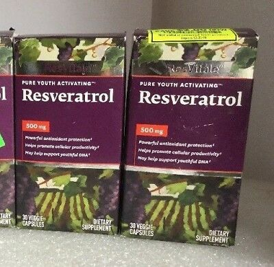 Lot Of 2 Resvitale Resveratrol 500 Mg Pure Youth Activating 30