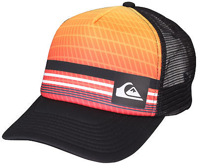 c53284ff6ce Quiksilver Foambition Snapback Trucker Hat (Orange Black)