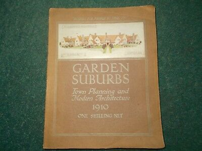 Garden Suburbs, Town Planning and Modern Architecture, 1910, Antique Book.