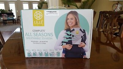 NEW LILLEbaby 6-Position COMPLETE All Seasons Baby Carrier Charcoal/Silver
