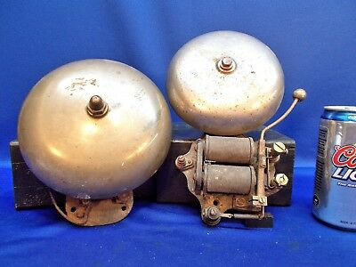 "PM8 ~ 2 Brass Alarm or Ring Bells: 7"" & 6"" FARADAY Electric"