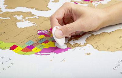 Globetrotter Scratch Off World Map Traveller's Map of the World