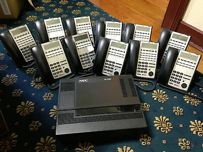 NEC SL 1100 Office Phone System with 12 Handsets