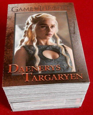 GAME OF THRONES - Season 4 - Complete Base Set - 100 cards - Rittenhouse 2015