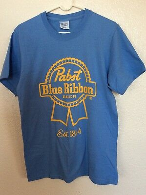 Baby Blue Pabst Blue Ribbon T-Shirt Size Small