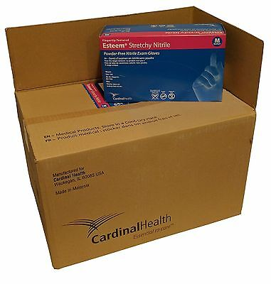 "Esteem ""Stretchy"" Nitrile Blue Gloves Medical Exam Lab Case of 10 Boxes 1500"