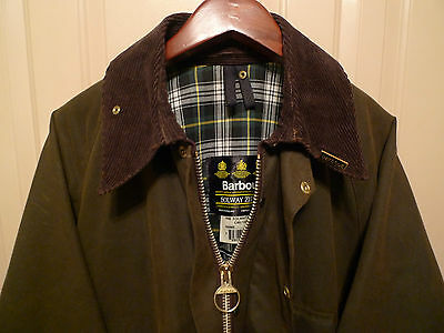 Barbour- A98 Solway Waxed Cotton Jacket & Belt-Olive--Made@ Uk-Rarely Worn-- 40