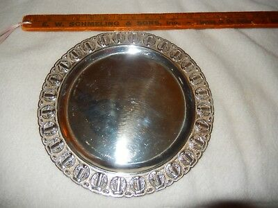 R Rodriguez Mexico Tane Sterling Silver Serving Platter Embossed Charger 508 G