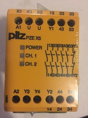 Pilz PZE X5 774595 Safety Relay 5N/O Brand New