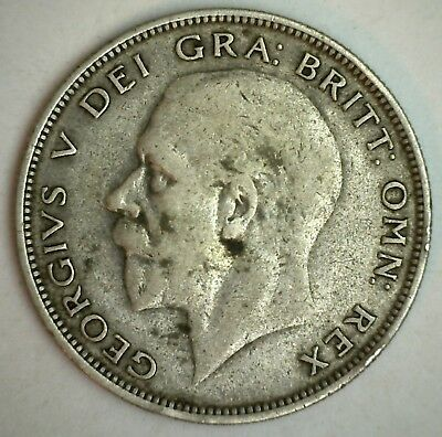 1932 Great Britain Silver 1/2 Crown Coin KM# 835