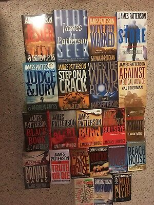James Patterson Lot of 22 Suspense Novels Paperbacks and Hardcover Very Good