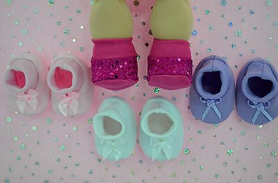 """PlaynWear Doll Clothes For16""""Cabbage Patch 4x BOOTIES~HOT PINK~WHITE~LILAC~PINK"""