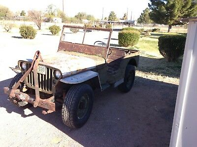 1945 Willys MB  1945 MB MILITARY JEEP, VERY RARE AND ORIGINAL, ARIZONA FIND,  RUNS AND DRIVES