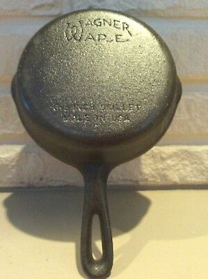 "Vintage Wagner Ware Sidney O Cast Iron Skillet No.3 C 6 1/2"" Skillet Made in USA"