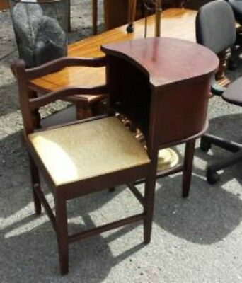 Vintage 1920s 1930s Telephone Table Gossip Chair Desk Bench