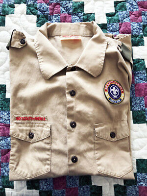 BOY SCOUTS Of AMERICA Adult Shirt 100% Cotton 2XL Short Sleeve