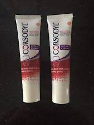 Corsodyl Ultra Clean Daily Toothpaste 20ml travel / pocket size X 2 TUBES 20ML
