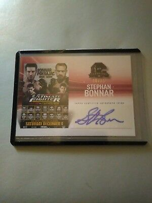 2015 Topps Ufc Champions Fight Poster Review Stephen Bonnar Fpra-Tuf12 #10/25