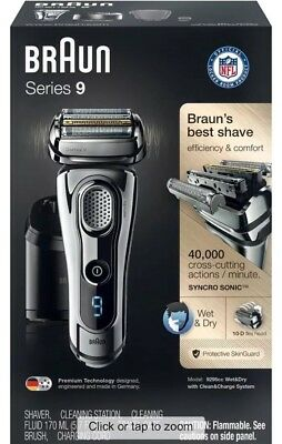 Braun Series 9-9295CC Wet & Dry Electric Shaver in Chrome new! w/o box brand new