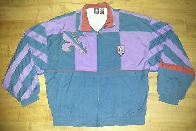 Rare Vintage Le Coq Sportif Multi Color Spell Out Windbreaker Jacket Size Large