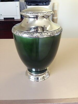Adult Cremation Urn for Ashes  - Federation Green  Nickel