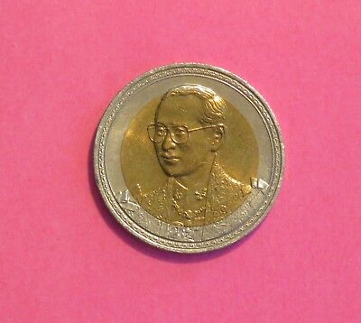 75th Birthday King Bhumibol Adulyadej 2002 Rama IX Thailand 10 Baht Unc Coin