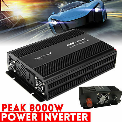 4000w Power Inverter Car SUV Converter Charger DC 12V To 110V AC USB Kit