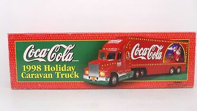 Coca Cola 1998 Holiday Caravan Semi Tractor Truck Trailer Santa Claus Christmas
