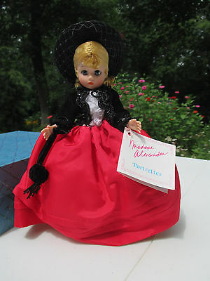 Doll Madame Alexander Lily #1114 Portrettes Box Tag Stand Red Skirt Black Hat