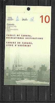 pk33226:Stamps-Canada #BK208 Canals of Canada 10 x 45 cent Booklet